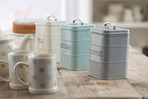 KitchenCraft Living Nostalgia Duck Egg Blue Sugar Canister, 11 x 17 cm