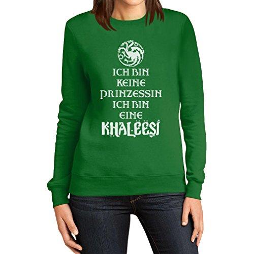 Ich Bin Keine Prinzessin Eine Khaleesi Fanartikel Frauen Sweatshirt XX-Large Grün (Naht Prinzessin Jumper)