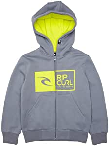 Rip Curl Aggrolite Hooded Flecce Boy's Hoodie Flint Stone 16 Years