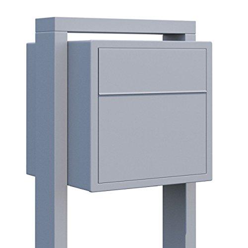 Standbriefkasten, Design Briefkasten Soprano Grau Metallic - Bravios