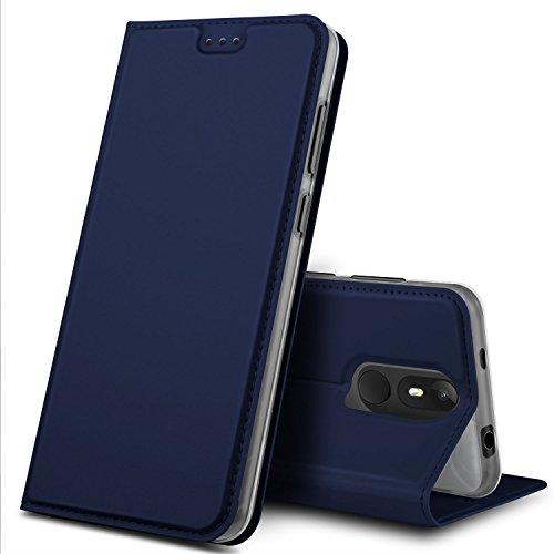 Wiko View Lite Hülle, GeeMai Premium Flip Case Tasche Cover Hüllen mit Magnetverschluss [Standfunktion] Schutzhülle Handyhülle für Wiko View Lite Smartphone, Blau
