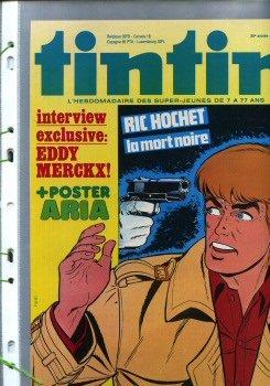 Ric Hochet - 36 - La Flèche de sang - prépublication dans Tintin belge - pages découpées