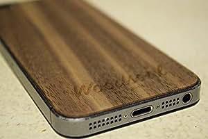 Woodsoul iPhone 5/5S coque de protection en bois véritable (bois de noyer américain)