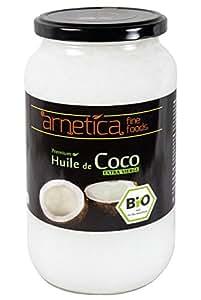 1000ml Olio di cocco extra vergine arnetica, 1L, biologico, puro, nativo, spremuto a freddo, alta qualità, non processato, vegano