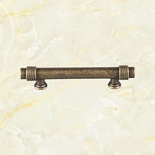 HCHANG Türgriff, Schubladengriff aus Zinklegierung, antiker einförmiger Schrank-Schrankgriff, doppelter Türgriff 3-TLG -