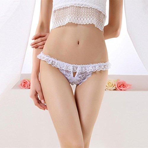 Frauen Spitze Breathable Thongs Unterhose - Bluestercool E