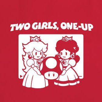 Two Girls, One-Up - Herren T-Shirt Grau