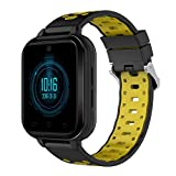samLIKE Smart Watch Android Fitness Uhr mit SIM-Kartensteckplatz 丨 2MP Kamera 丨 Schrittzaehler 丨 4G Echtzeit Videoanruf 丨 Pulsmesser 丨 GPS-Positionierung 丨 Musik Spielen 丨 für Herren Damen (Gelb)
