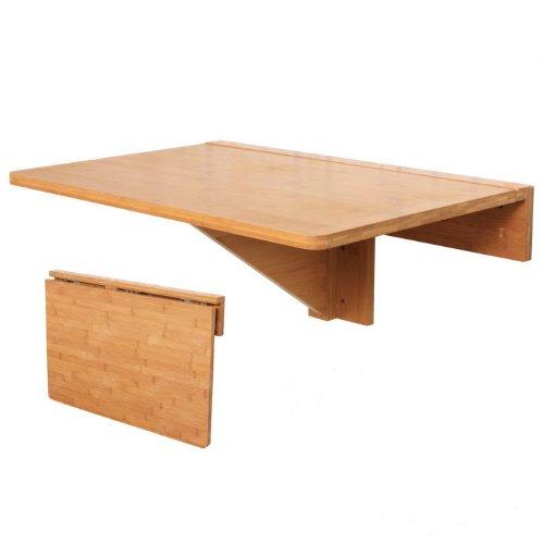 SoBuy® Klapptisch Kinder-Wand, Klapptisch, Tisch, Küchentisch, Tisch Bambus, fwt031-n, 60x 40cm Farbe: Bambus Natur