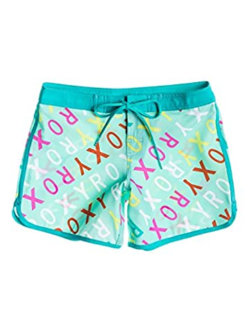 Roxy Girl's Surf's Up 5 Shorts, Turquoise (Surfs Up Logo