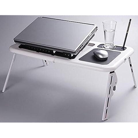 uzi-lazy persone benessere letto semplice portatile tavolo pieghevole con doppia ventola dissipatore multifunzione tavolo