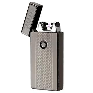 Akunsz USB Elektronisch Feuerzeug, Lichtbogen Feuerzeug Elektro Aufladbares Tesla Elektronisches Plasma Feuerzeug Ohne Flamme Windsicher Arc Lighter Electric