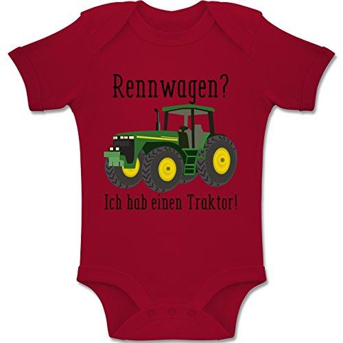 Shirtracer Fahrzeuge Baby - Rennwagen? Traktor! - 6-12 Monate - Rot - BZ10 - Baby Body Kurzarm Jungen Mädchen (Neugeborenen Traktor Kleidung)