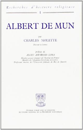Albert de Mun : Recherches d'histoire religieuse
