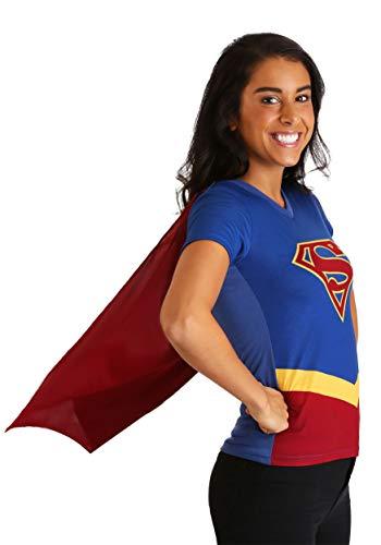 (Bioworld Merchandising / Independent Sales Supergirl Cape Fancy Dress Costume Womens T-Shirt 2X)