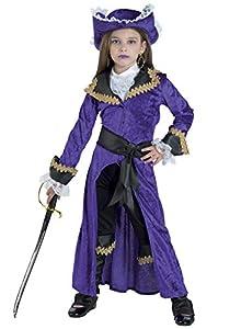 Clown Republic, Capitán Morgan Disfraz para niña, 82810/10, multicolor
