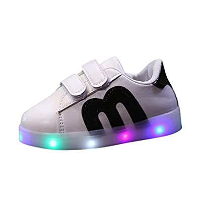 BURFLY Baby Boys & Girls LED Light Up Luminous Trainers