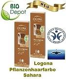 Doppelpackung LOGONA Pflanzenhaarfarbe sahara Pflanzenhaarfarbe mit Henna aus kbA Die LOGONA Pflanzenhaarfarbe sahara ist für hellblondes bis mittelblondes Haar geeignet Zertifizierungen: BDIH Sonstige Eigenschaften: Vegan