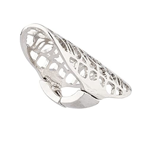 Lux Accessories Knuckle Shield Cutout Design Stretch Ring.