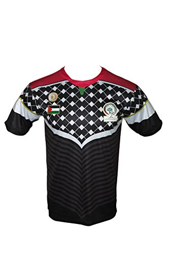 Cadenza Trikot Fußball-Palästina cz227schwarz Gr. S, schwarz