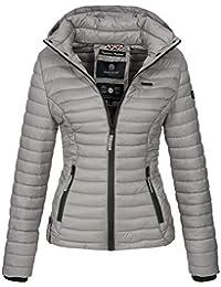 Marikoo Damen Jacke Steppjacke Übergangsjacke mit Kapuze Gesteppt B600 9261ca94c4