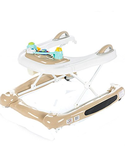 Chipolino 3-in-1 Baby Walker, Beige, Lilly Chipolino The fabric on the base easily detached and you can use it as a baby walker May be used as a cradle - base transforms into rocker Colourful tray with toys and musical panel to entertain the baby, the tray toy can also be detached and used separately 1