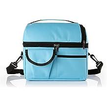 Vkatech 8L Nevera Acampada bolsa de almuerzo con aislamiento correa para el hombro(azul)