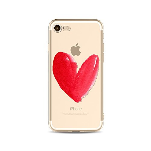 Coque iPhone 6 Plus 6s Plus Housse étui-Case Transparent Liquid Crystal en TPU Silicone Clair,Protection Ultra Mince Premium,Coque Prime pour iPhone 6 Plus 6s Plus-Coeur-style 6 6