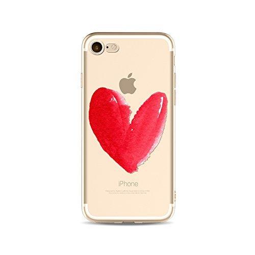 Coque iPhone 5 5s SE Housse étui-Case Transparent Liquid Crystal en TPU Silicone Clair,Protection Ultra Mince Premium,Coque Prime pour iPhone 5 5s SE-Coeur-style 9 6