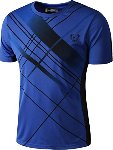 Sportides Jungen Quick Dry Active Sport Short Sleeve Breathable T-Shirt Casual Tee Top LBS701 Blue M