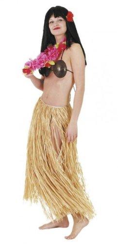 Natur Karneval Kostüm - Orlob Hawaii Bastrock mit Gummi 90cm zum Kostüm Karneval Fasching natur