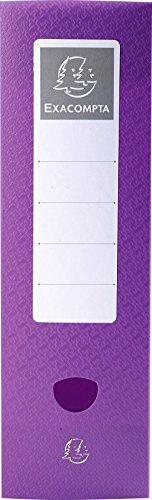 Exacompta 89990E Fizz Archivbox (PP, A4, Druckknopf-Rücken 100 mm)