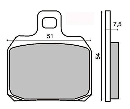 RMS Coppia pastiglie piaggio x9 180-250-500 anteriori/posteriori Brake pads front/rear piaggio x9 180-250-500
