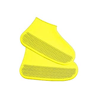 ABEDOE Silicone overshoes, Reusable shoe covers Waterproof Rain boots Non-slip Washable Unisex Recyclable
