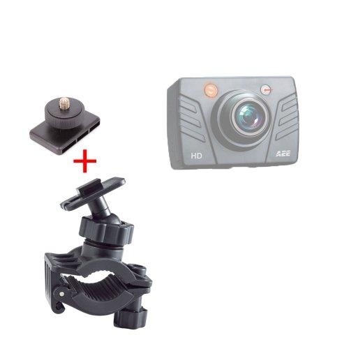 Support DURAGADGET fixation vélo/VTT/BMX pour PNJ Cam AEE SD18, SD19, AEE SD21 et AEE SD23 Mini Caméra de sport embarquée étanche/caméscope