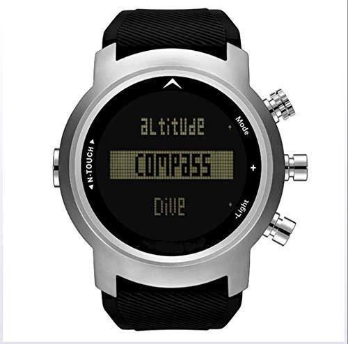ZJH Smart Diver Watch para Hombre Reloj Deportivo Digital Impermeable de 100 m con altímetro barómetro Termómetro Brújula Reloj