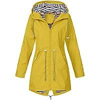 Hanomes Damen pullover, Frauen Solide Regenjacke Outdoor Jacken Wasserdicht mit Kapuze Regenmantel Winddicht preisvergleich bei billige-tabletten.eu
