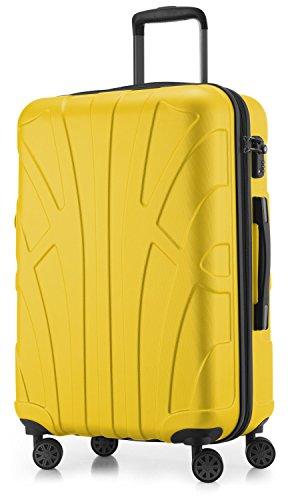 Suitline Hartschalen-Koffer Koffer Trolley Rollkoffer Reisekoffer, TSA, 66 cm, ca. 53 Liter, Matt, Zwillingsrollen, in 15 verschiedene Farben