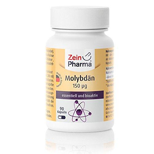 ZeinPharma Molybdän 90 Kapseln • hochdosiert 150µg • Hergestellt in Deutschland • Essentielles Spurenelement • Vegan
