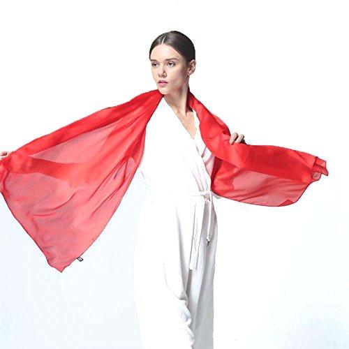 Luxus weich reine Seide Schal Rot