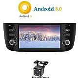 XISEDO Android 8.0 Autoradio In-dash 1 Din Car Radio 6.2 Pollici Car Stereo 8-Core RAM 4G ROM 32G Navigatore GPS con Schermo di Tocco per Fiat Linea/Fiat Grande Punto