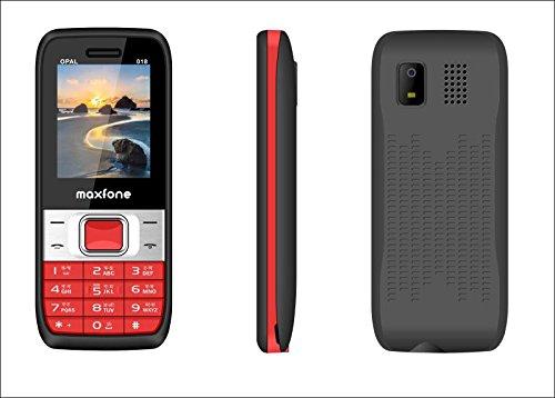 Maxfone Model O 18 Mobile Phone (Dual Sim_Red & Black)