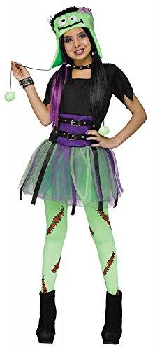 shoperama Frankie Baby Mädchen Karnevalskostüm Frankenstein Kleid Halloween, Kindergröße:170 - 14 bis 16 Jahre (Baby Für Halloween-kostüm Frankenstein)