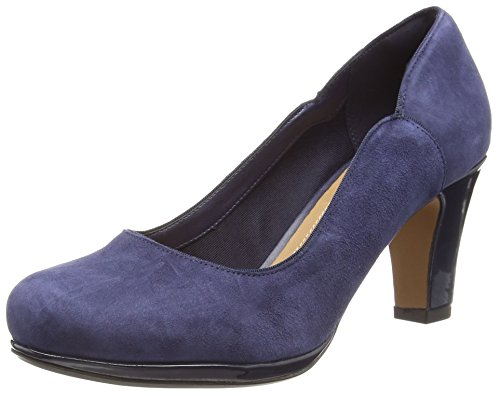 Clarks donna Suede Chorus Blu Nights Navy chiuse Decolleté rxrpSq