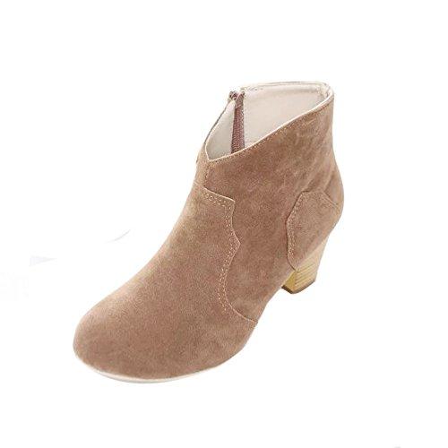 VECDY Damen Stiefeletten,Schuhe Stiefel Booties Frauen Kurze Zylinder Stiefel High Heels Stiefel Schuhe Stiefel Ankle Boots - Grün-michael Mantel Kors