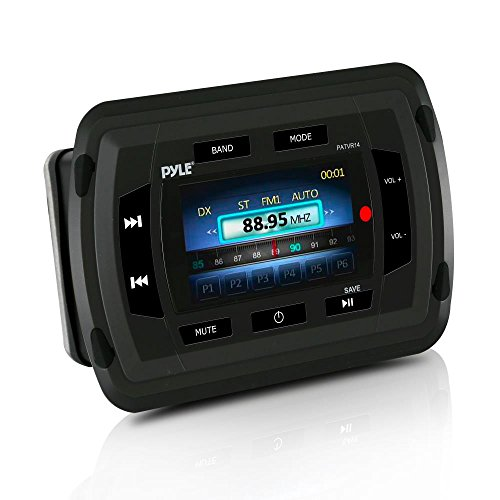 Pyle patvr14 Marine Bluetooth Audio/Video Receiver - Wasser beständig A/V Stereo Haupteinheit, Farbe LCD-Display, USB Reader Audio-video-receiver