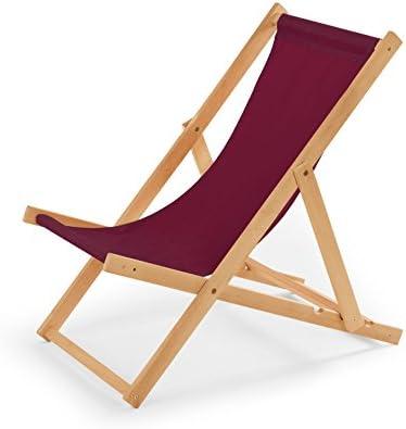 Tumbona de jardín de madera Tumbona Mendler silla de playa