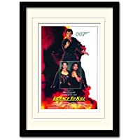 James Bond License to Kill One Sheet A3 Framed and Mounted Print