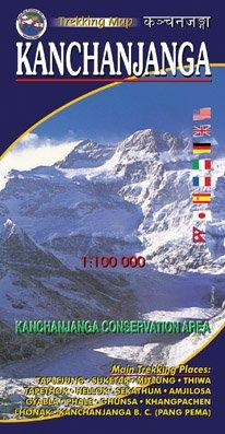 KANCHANJANGA 1:100000-map por Vajra Books