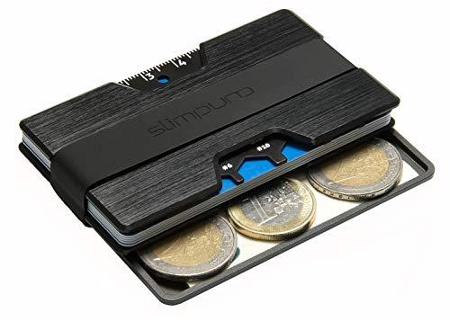 Premium Kreditkartenetui aus Aluminium mit Münzfach und Geldklammer Nano - RFID...